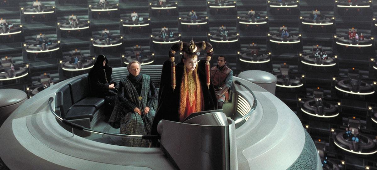 Компания Ōma Cinema представил концепт кинозала IMAX — это почти галактический сенат изStar Wars 3