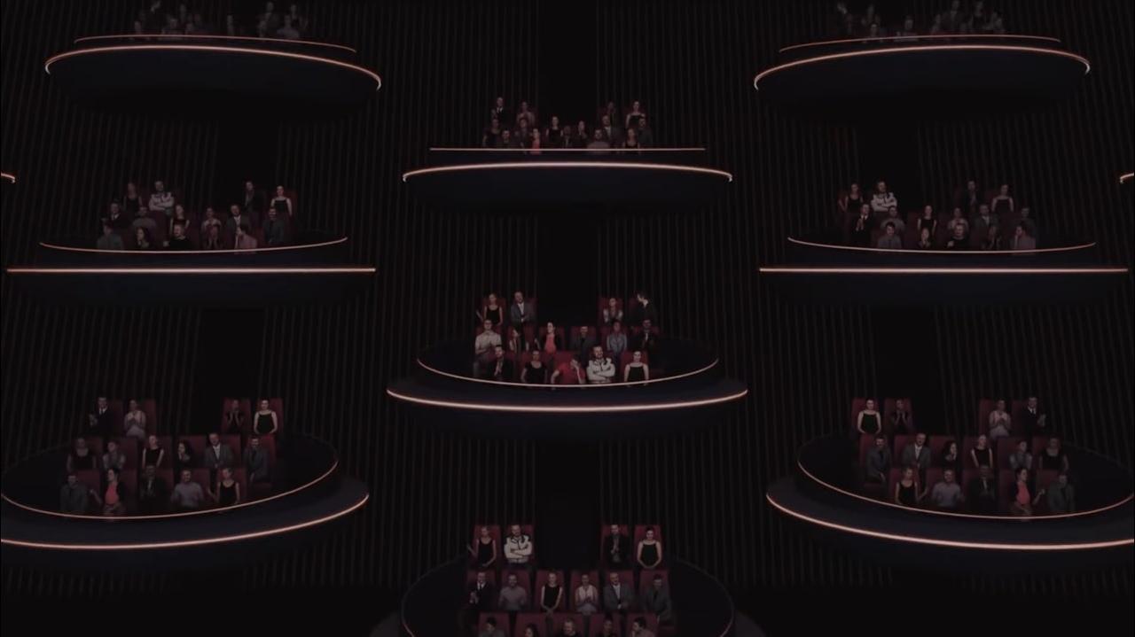 Компания Ōma Cinema представил концепт кинозала IMAX — это почти галактический сенат изStar Wars 1