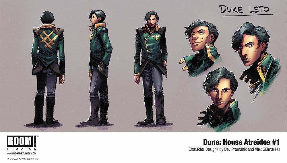 Обложка и концепты комикса по «Дюне» Герберта