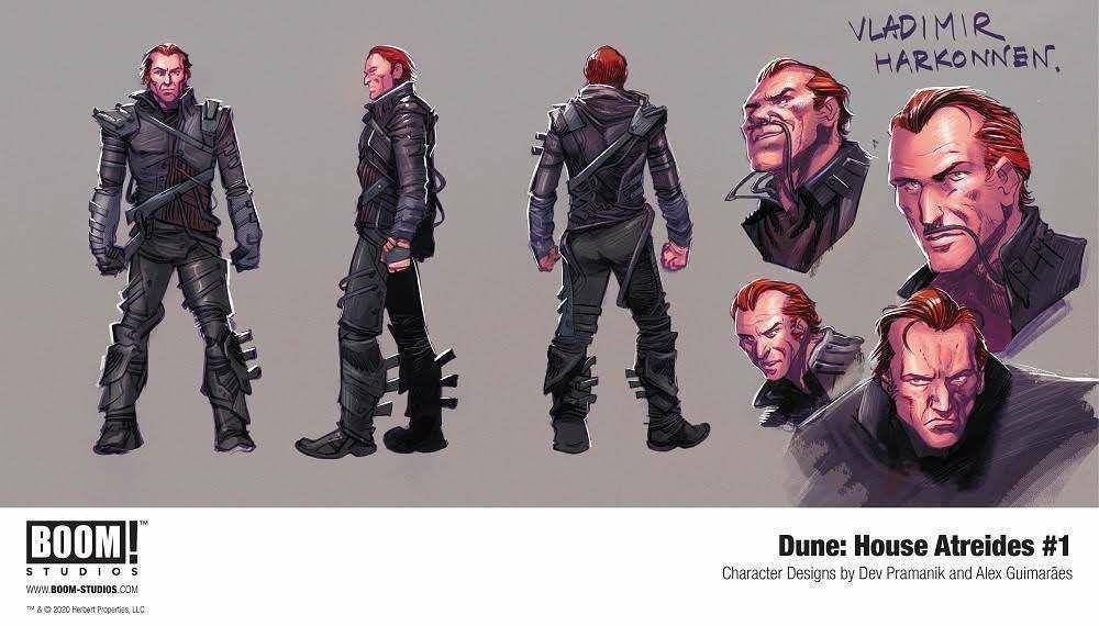 Обложка и концепты комикса по «Дюне» Герберта 4