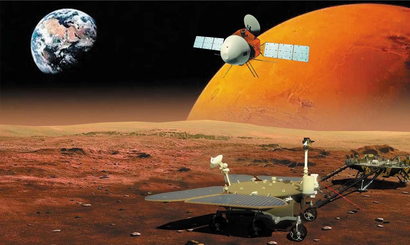Китай успешно запустил к Марсу исследовательский комплекс «Тяньвэнь-1»