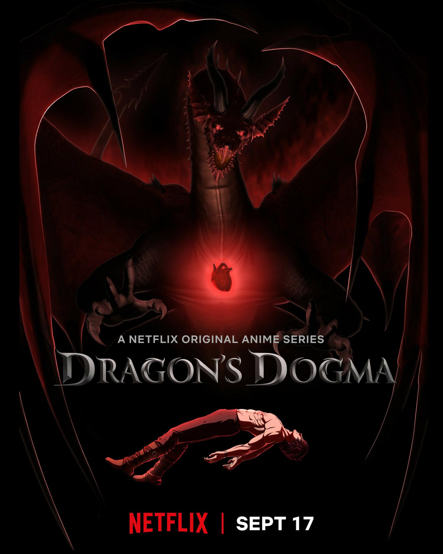 Постер и кадры аниме-сериала Dragon's Dogma от Netflix 2
