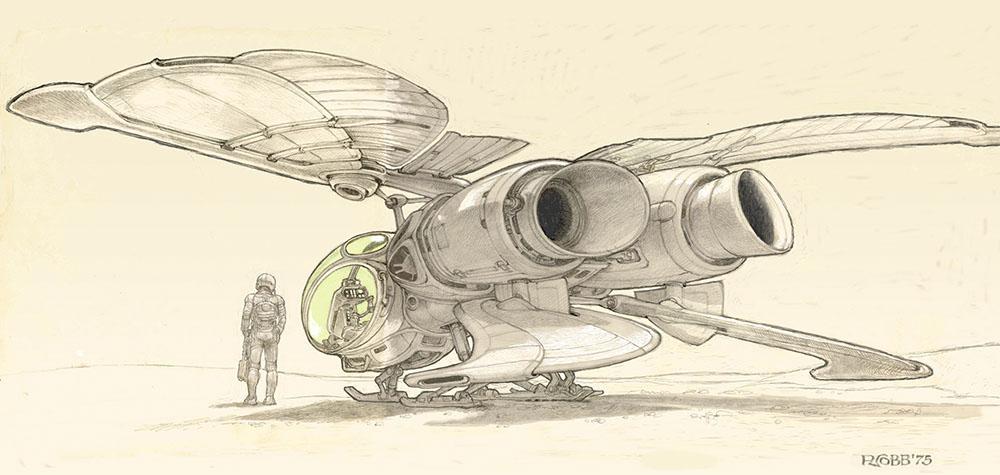 Умер Рон Кобб — художник-постановщик и дизайнер «Чужого», «Звёздных войн» и «Назад в будущее» 1