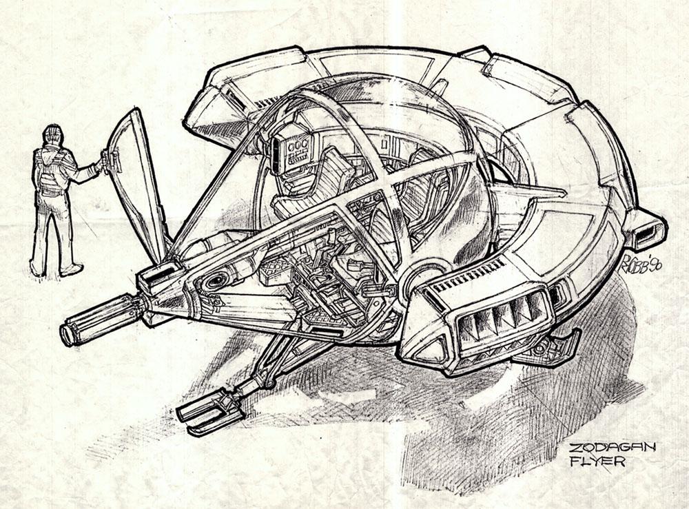 Умер Рон Кобб — художник-постановщик и дизайнер «Чужого», «Звёздных войн» и «Назад в будущее» 17