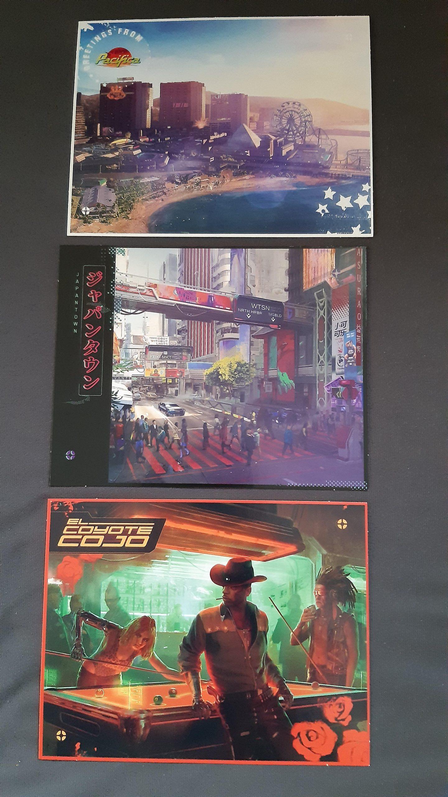 Утечка: карты и открытки Cyberpunk 2077 2
