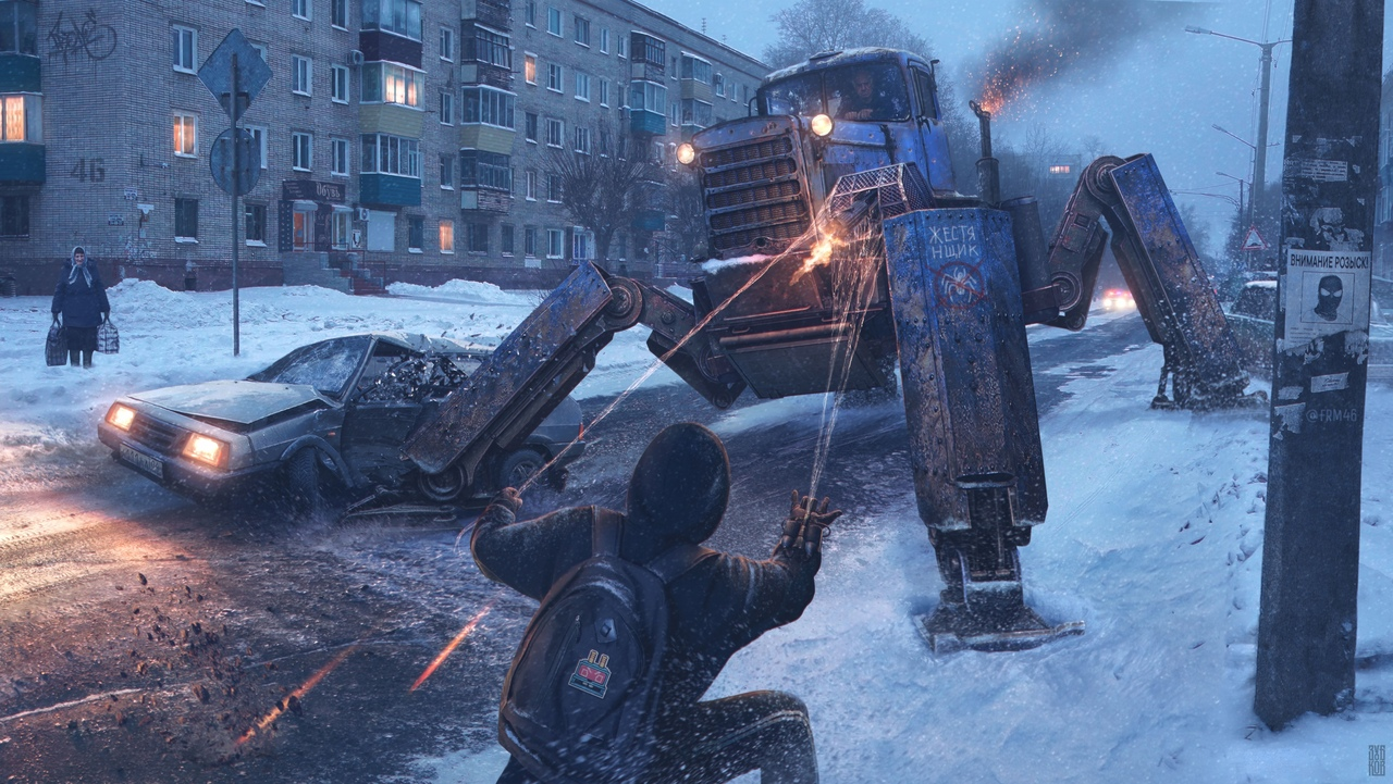 Евгений Зубков представил концепты Северного паука — супергероя изсибирской провинции 2