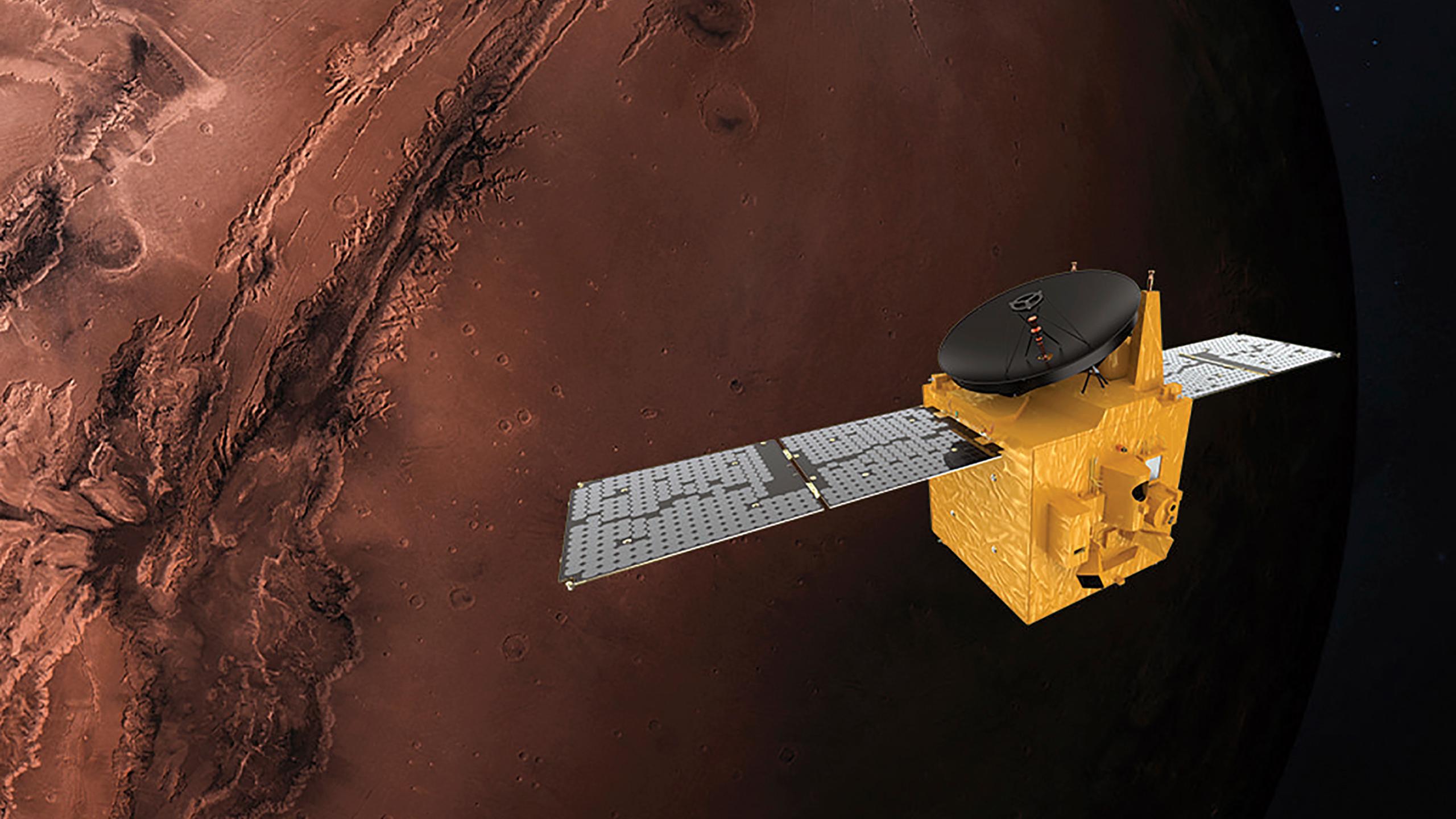Исследовательские станции ОАЭ и КНР вышли на орбиту Марса