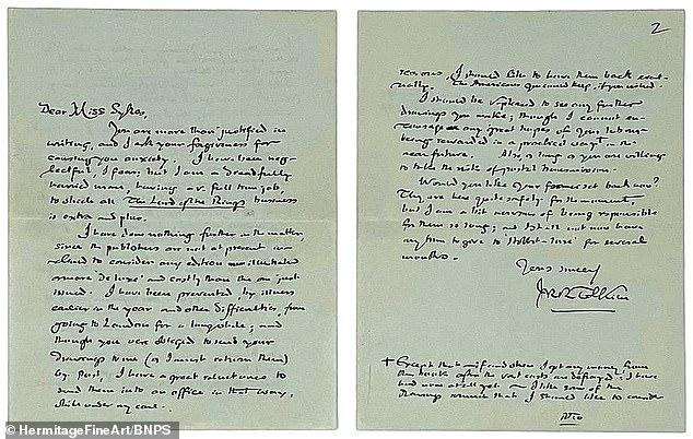 Письмо Толкина ушло с аукциона за $25 000 1