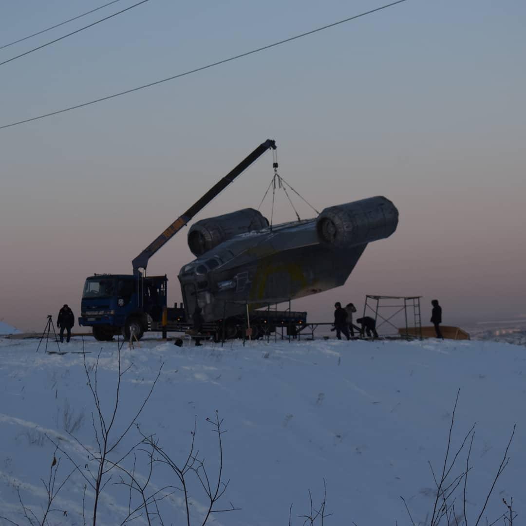 Таков путь: в Якутске появилась копия звездолета Мандалорца 1