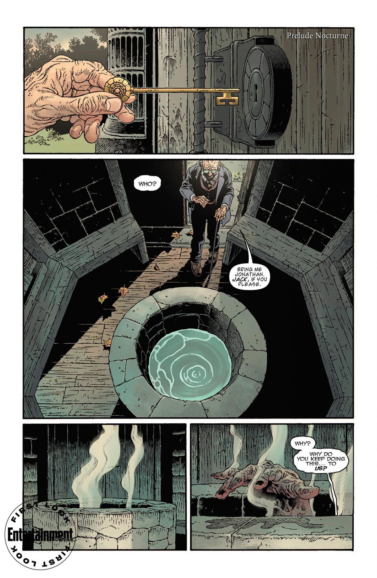 Первые кадры комикса комикс-кроссовера «Песочного человека» и «Ключей Локков» 2