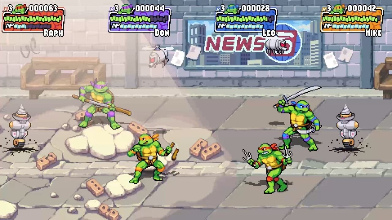 Трейлер и скриншоты Teenage Mutant Ninja Turtles: Shredder's Revenge 3