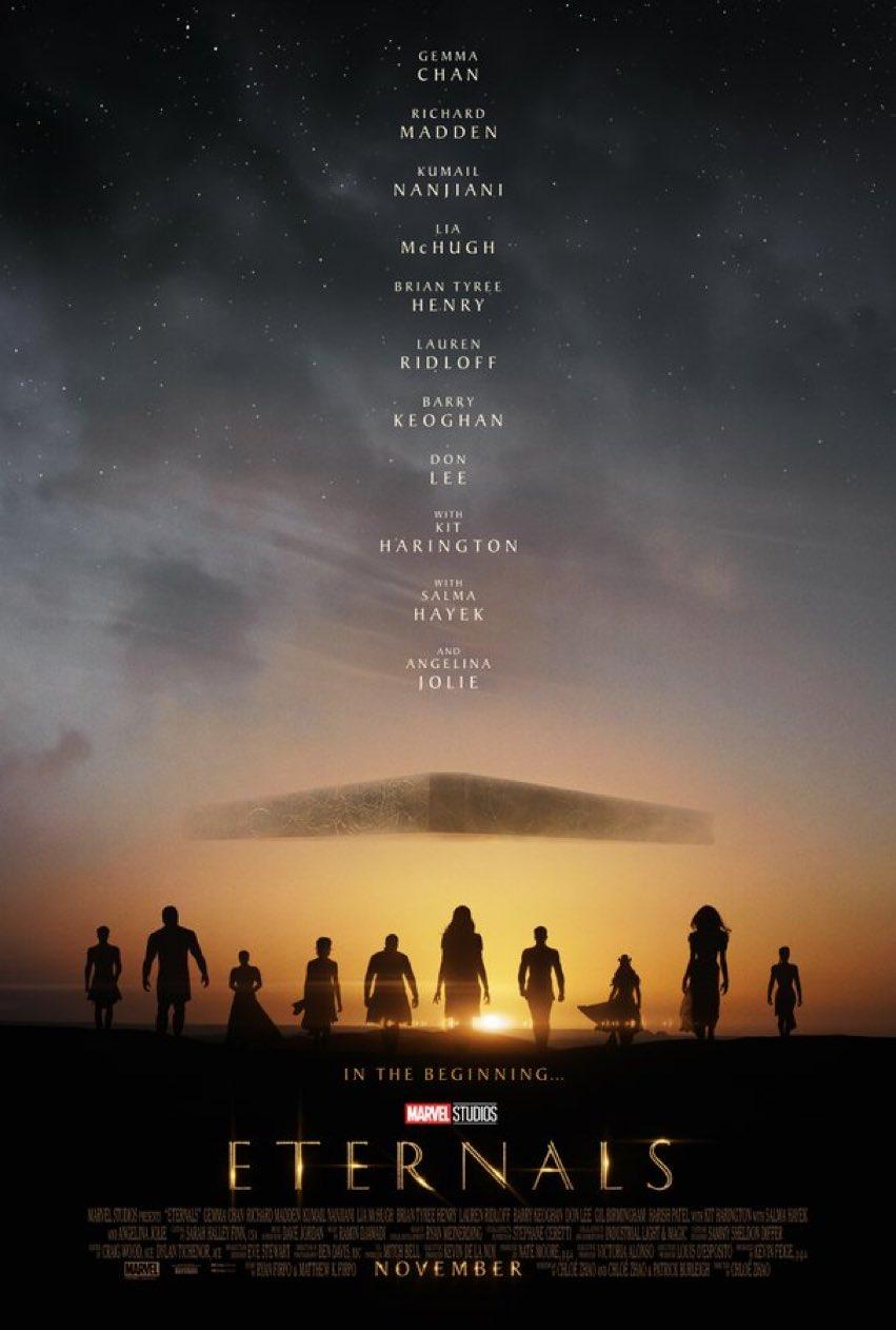 Первый трейлер «Вечных» — фильм выйдет 4 ноября 1